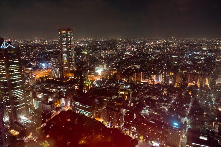 Tokio Skyline bei Nacht