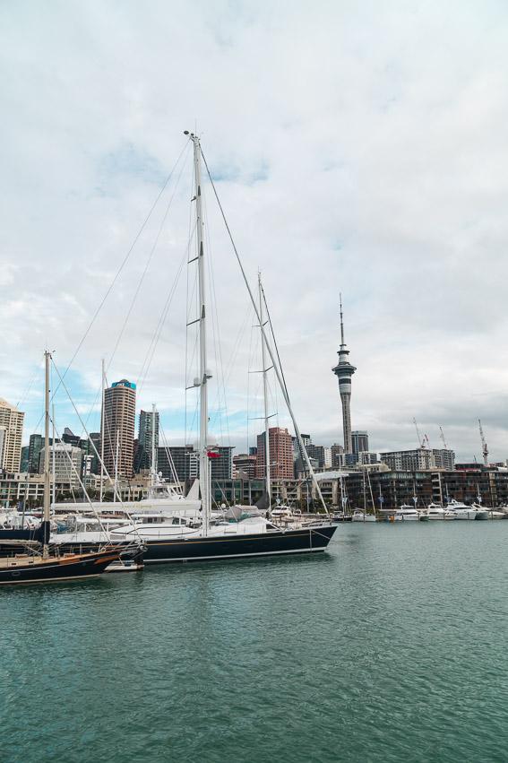 Auckland Skyline Hafen