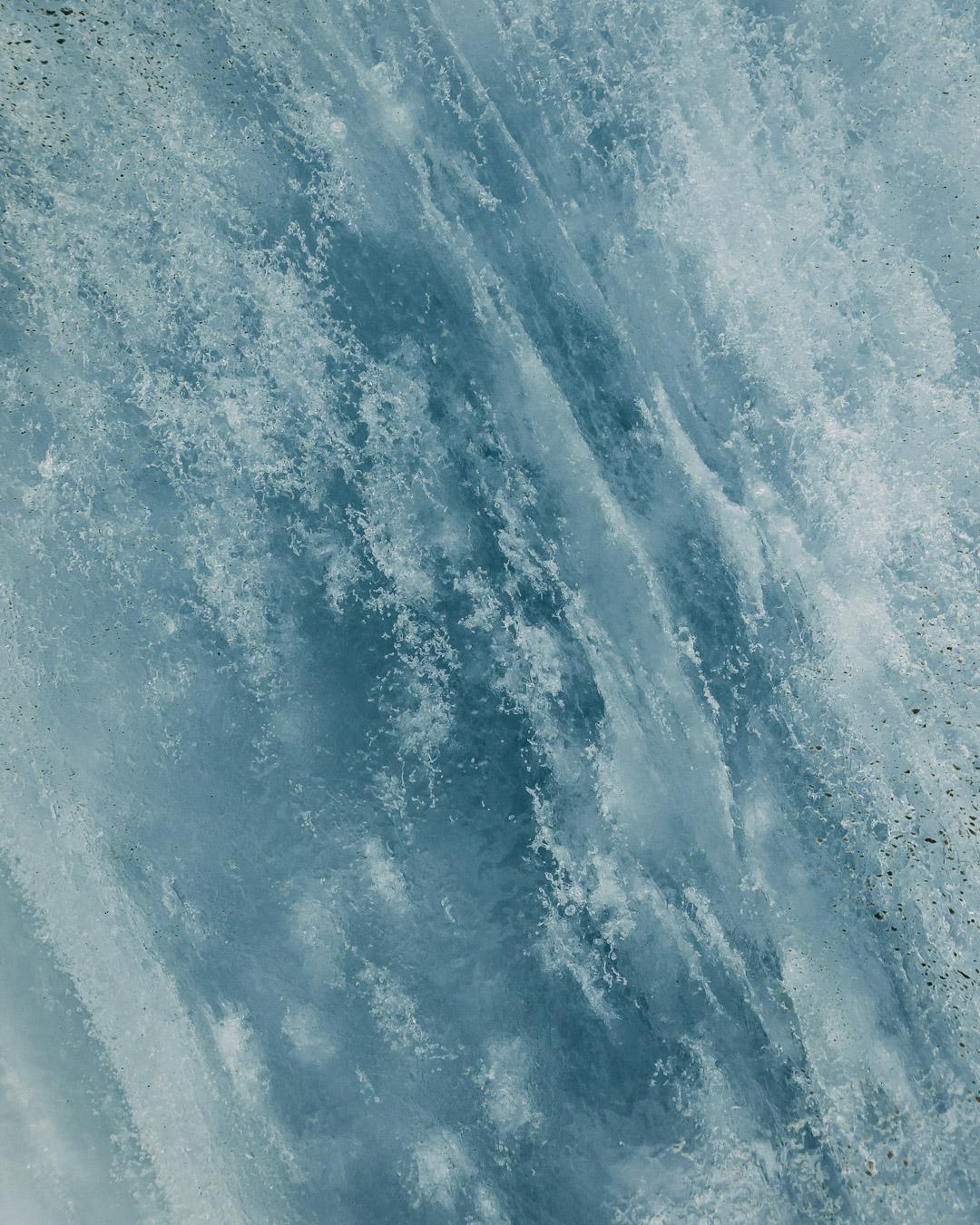 Gletscher Eis Detail