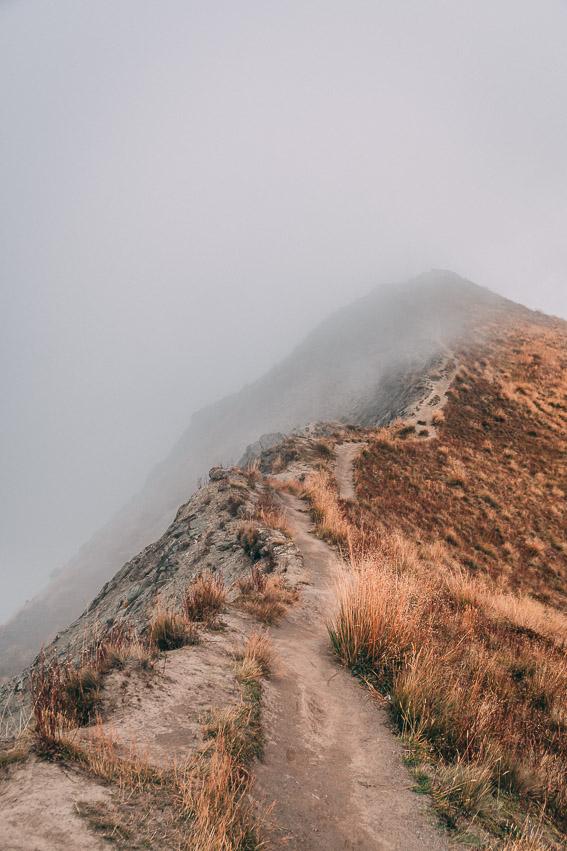 Roy's Peak Aussicht Neblig