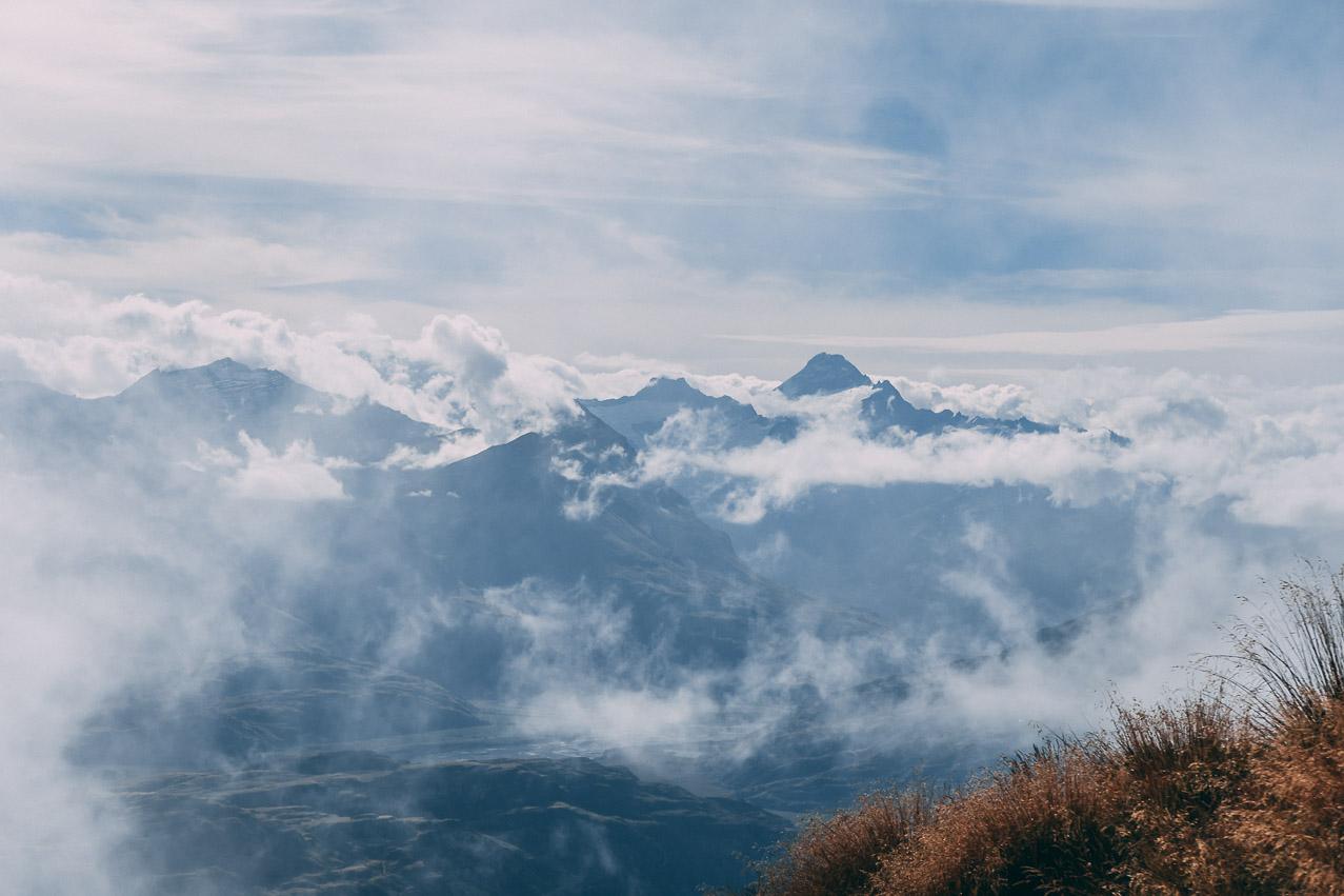 Roy's Peak Aussichtt Wolkig