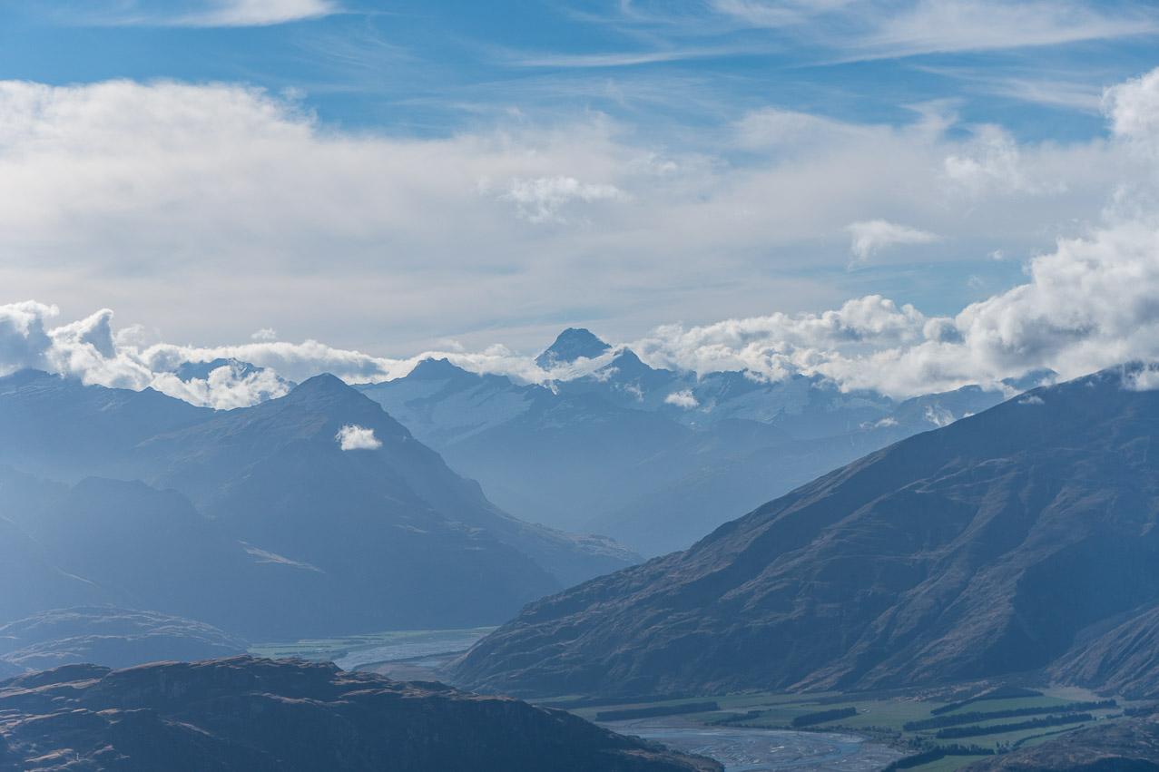 Roy's Peak Aussicht Wolkig 2