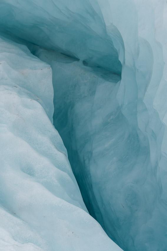 Franz Josef Gletscherspalte Detail